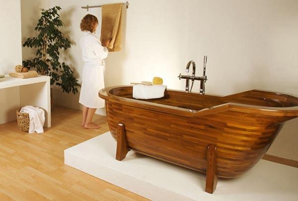 kinh nghiệm mua bồn tắm gỗ