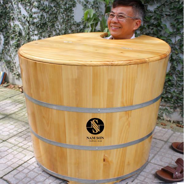 Bồn tắm tròn chức năng 2in1: Tắm và xông hơi